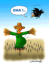 Cartoon: Scarecrow (small) by halisdokgoz tagged scarecrow,dokgoz