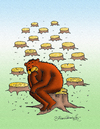 Cartoon: Thinking Bear (small) by halisdokgoz tagged thinking,bear