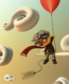 Cartoon: I can fly with my hands... (small) by momodisnep tagged can,fly,with,my,hands