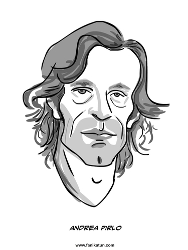 Cartoon: Andrea Pirlo (medium) by Ahmedfani tagged football,italy,pirlo