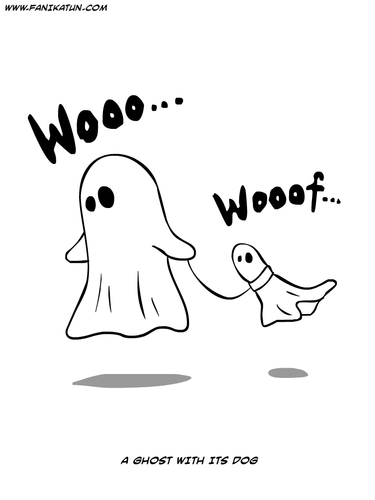 Cartoon: Scary Cartoon (medium) by Ahmedfani tagged ghost,dog
