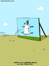Cartoon: Greener Grass (small) by Ahmedfani tagged philosophy,idioms,sheep