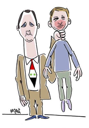 Cartoon: Assad and Aschraf (medium) by Hayati tagged assad,and,ashraf,syrien,suriye,staatsterror,folterung,todesopfer,grenzen,protest,hayati,boyacioglu,berlin,assad,syrien,staatsterror,folterung,todesopfer,grenzen,protest