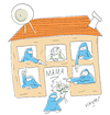 Cartoon: Happy Muttertag (small) by Hayati tagged muttertag,motherday,anneler,guenue,burka,kopftuch,vielweiberei,religion,karikatur,hayati,boyacioglu,berlin