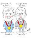 Cartoon: NOBEL (small) by Hayati tagged nobelpreis,sozialesklima,zuwanderung,migration,deutschland,buch,cdu,spd,parteien,auslaender,migranten,tuerken,araber,politik,sarrazin,seehofer,hayati,boyacioglu