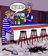 Cartoon: Most wanted (small) by sier-edi tagged entflohener,häftling,bar,drink
