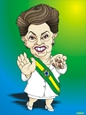 Cartoon: Dilma Roussef (small) by Arena tagged dilma,roussef,brazil,brasil