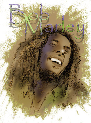 Cartoon: BOB MARLEY (medium) by donquichotte tagged bob