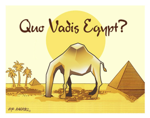 Cartoon: QUO VADIS EGYPT? (medium) by donquichotte tagged egypt