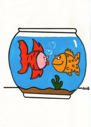 Cartoon: love fish (medium) by claude292 tagged fish