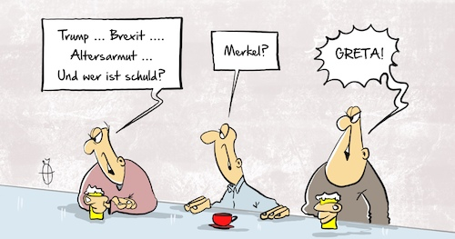Cartoon: Greta3 (medium) by Marcus Gottfried tagged klima,umwelt,greta,trump,usa,brexit,johnson,merkel,schuld,reflex,klima,umwelt,greta,trump,usa,brexit,johnson,merkel,schuld,reflex