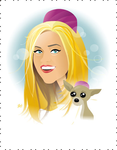 Cartoon: Reese Witherspoon (medium) by Nicoleta Ionescu tagged reese,witherspoon