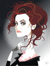 Cartoon: Helena Bonham Carter (small) by Nicoleta Ionescu tagged helena bonham carter