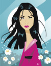 Cartoon: Lucy Liu (small) by Nicoleta Ionescu tagged lucy liu