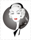 Cartoon: Marlene Dietrich (small) by Nicoleta Ionescu tagged marlene dietrich