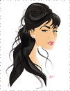 Cartoon: Monica Bellucci (small) by Nicoleta Ionescu tagged monica bellucci