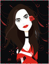 Cartoon: Penelope Cruz (small) by Nicoleta Ionescu tagged penelope cruz