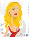 Cartoon: Scarlett Johansson (small) by Nicoleta Ionescu tagged scarlett johansson movie star actriss diamond big lips hot red blonde screen tv woman girl romance