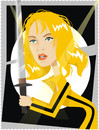 Cartoon: Uma Thurman (small) by Nicoleta Ionescu tagged uma thurman