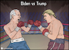 Cartoon: Joe Biden vs Donald Trump (small) by matan_kohn tagged joe,biden,donald,trump,battle,run,fight,coronavirus,boxing,presidency,election,2020,usa,america,politics,elections,washington,dc,democraty,repoblicans,presifent