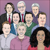 Cartoon: Lets talk (small) by matan_kohn tagged ellen,degeneres,jay,leno,conan,obrien,david,letterman,jimmy,kimmel,fallon,jonathan,ross,james,corden,oprah,winfrey,television,talkshow,illustration,artwork,stars