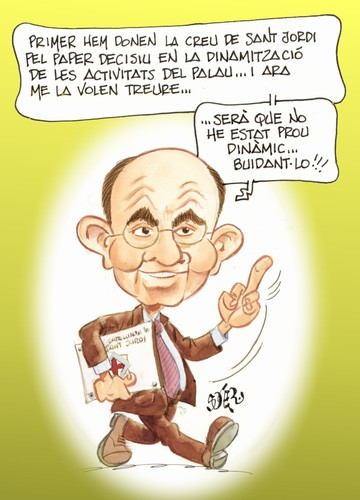 Cartoon: FELIX MILLET (medium) by SOLER tagged caricatura,chiste,orfeo