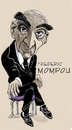 Cartoon: Frederic Mompou (small) by frostyhut tagged frederic mompou composer pianist classical music catalan spanish
