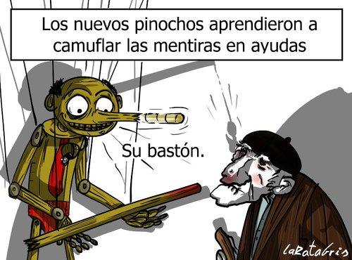 Cartoon: adornar la mentira (medium) by LaRataGris tagged mentira,politicos