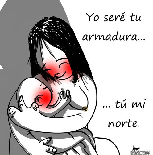 Cartoon: Amor (medium) by LaRataGris tagged dia,de,la,madre