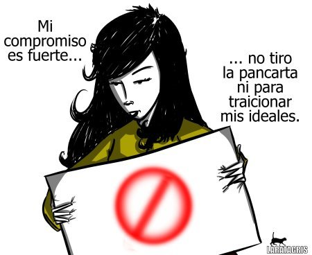 Cartoon: Compromiso (medium) by LaRataGris tagged laratagris,idealistas