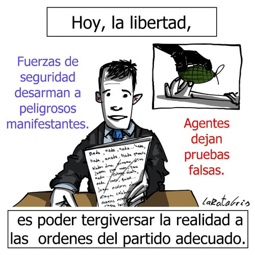 Cartoon: lecturas libres (medium) by LaRataGris tagged tergiversar,television