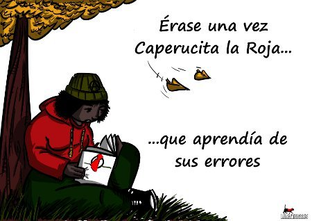 Cartoon: Lee analiza aprende. (medium) by LaRataGris tagged caperucita,la,roja,aprender