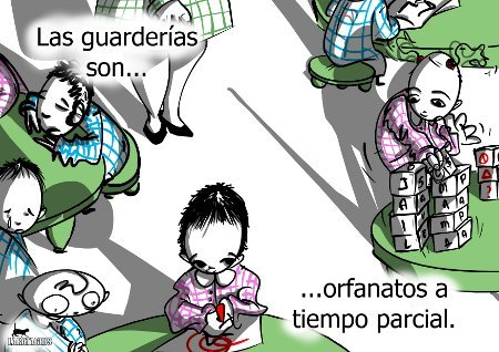 Cartoon: Menos guarderias y mas conciliac (medium) by LaRataGris tagged guarderias,orfanatos