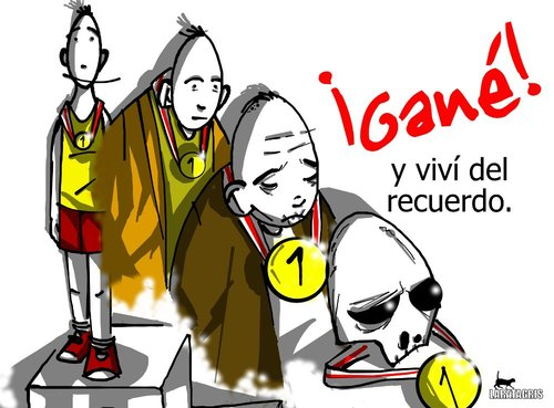 Cartoon: Pasados (medium) by LaRataGris tagged recuerdos,ganar