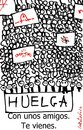Cartoon: en la calle (small) by LaRataGris tagged huelga