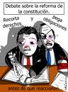 Cartoon: manualidades constitucionales (small) by LaRataGris tagged constitucion,reforma