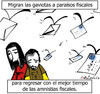 Cartoon: migraciones fiscales (small) by LaRataGris tagged corrupcion