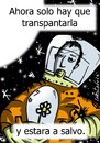 Cartoon: plantando estrellas (small) by LaRataGris tagged medioambiente