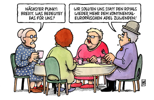 Cartoon: Brexit und Royals (medium) by Harm Bengen tagged royals,adel,susemil,kaffee,eu,europa,brexit,uk,gb,referendum,abstimmung,austritt,harm,bengen,cartoon,karikatur,royals,adel,susemil,kaffee,eu,europa,brexit,uk,gb,referendum,abstimmung,austritt,harm,bengen,cartoon,karikatur