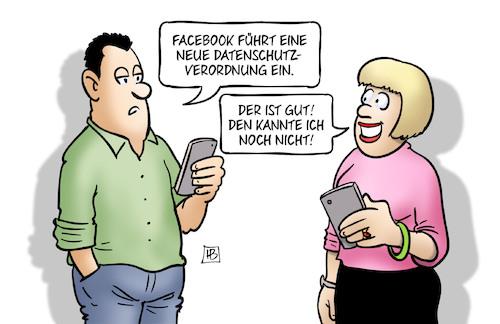 Facebook-Datenschutz de Harm Bengen | Negocio Cartoon