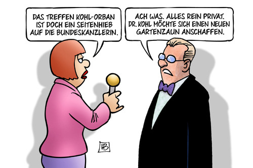Cartoon: Kohl-Orban (medium) by Harm Bengen tagged karikatur,cartoon,bengen,harm,fluechtlingspolitik,gartenzaun,privat,premierminister,ungarn,besuch,merkel,bundeskanzlerin,seitenhieb,orban,kohl,kohl,orban,seitenhieb,bundeskanzlerin,merkel,besuch,ungarn,premierminister,privat,gartenzaun,fluechtlingspolitik,harm,bengen,cartoon,karikatur