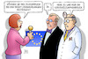 Cartoon: Brexit-Durchbruch oder nicht (small) by Harm Bengen tagged durchbruch,brexit,verhandlungen,nervenzusammenbruch,eu,europa,uk,gb,arzt,may,juncker,interview,harm,bengen,cartoon,karikatur