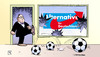 Cartoon: Eigentor (small) by Harm Bengen tagged fenster,scheibe,gauland,boateng,nachbarn,afd,rassismus,rechts,nationalismus,fussball,harm,bengen,cartoon,karikatur