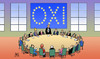 Cartoon: Euro-Oxi (small) by Harm Bengen tagged fahne,oxi,nein,euro,referendum,europa,grexit,troika,institutionen,eu,ezb,iwf,griechenland,pleite,schulden,harm,bengen,cartoon,karikatur