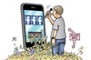 Cartoon: Facebook-Gewinne (small) by Harm Bengen tagged facebook,gewinne,zuckerberg,aktien,kapital,apps,handy,smartphone,social,media,werbung,geld,harm,bengen,cartoon,karikatur