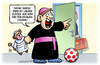 Cartoon: Familiensynode (small) by harm tagged mama,papa,mutter,vater,teddy,kind,vatikan,katholische,kirche,kardinal,priester,zölibat,familiensynode,rom,harm,bengen,cartoon,karikatur