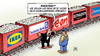 Cartoon: Luxemburg-Deals (small) by Harm Bengen tagged bahnstreik,luxemburg,deals,leaks,juncker,geld,gdl,streik,bahn,db,weselsky,harm,bengen,cartoon,karikatur