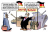 Cartoon: Waffenexport (small) by Harm Bengen tagged waffen,basar,waffenexport,rüstungsexport,schwarzrot,duftbäumchen,panzern,harm,bengen,cartoon,karikatur
