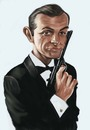Cartoon: Bond (small) by jonesmac2006 tagged james,bond,sean,connery,caricature