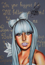 Cartoon: Lady Gaga (small) by Sanni tagged lady,gaga